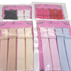 15mm Wide Band Fashion Stylish Bra Straps, Women's Accessories 8 Plain Color Set