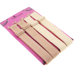 15mm Wide Band Stylish Bra Straps, Women's Accessories Beige n Cream Color Set