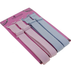 15mm Wide Band Stylish Bra Straps, Women's Accessories Pink and Blue Color Set