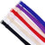 12mm Blue and Purple Color Fashion Pattern Bra Straps, Lingerie Accessories, Pack of 2