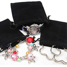 Fashion Jewelry Velvet and Organza Gift Pouches