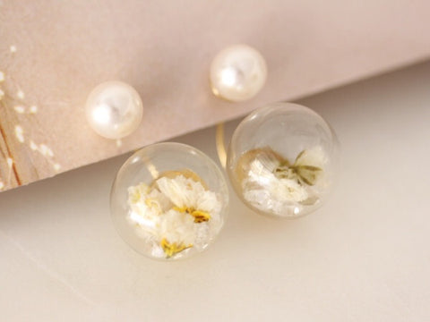 Baby's Breath Double Studs