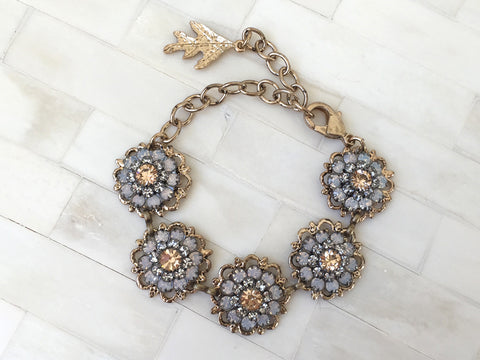 Antique Peach Flower Bracelet