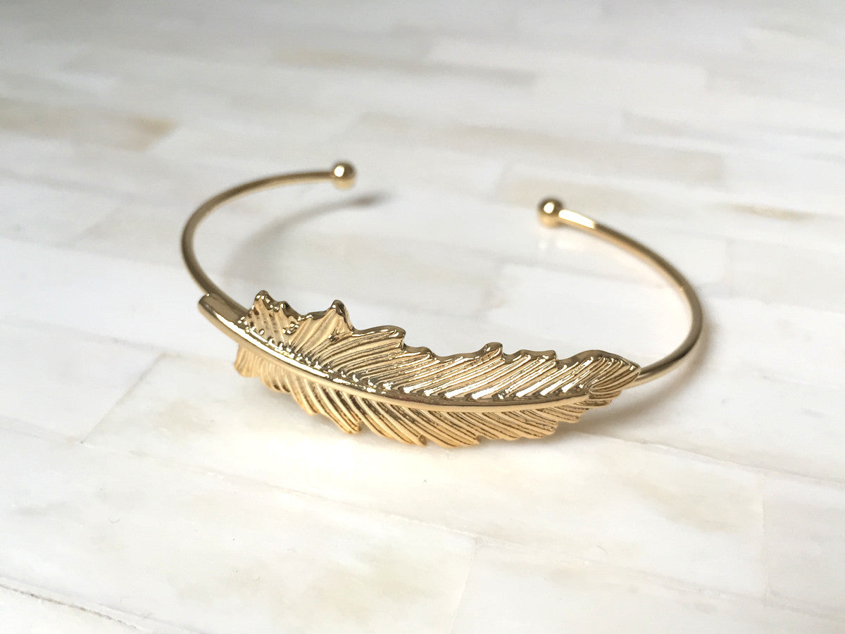 Slim Feather Bangle