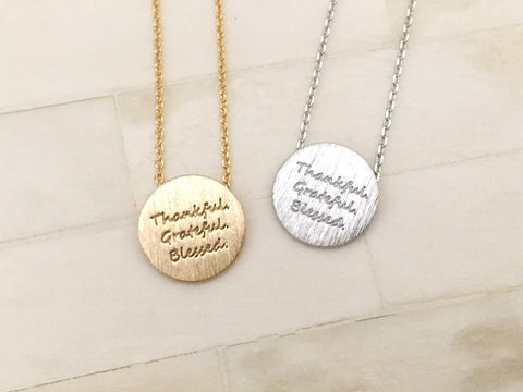 Thankful Necklace