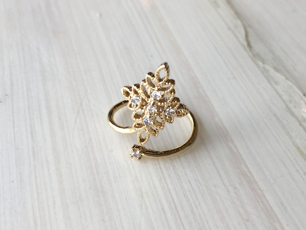 Rhombus Nail Accent Ring