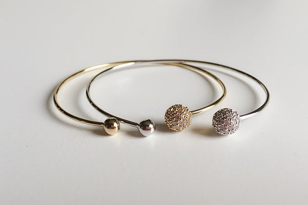 Pave Ball Bangle