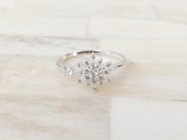 Open Snowflake Ring