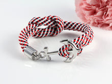 Load image into Gallery viewer, Nautical Rope Anchor Bracelet
