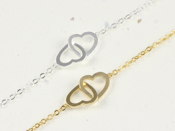 Linked Infinite Heart Bracelet