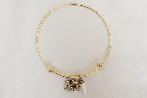 Antique Elephant Bangle