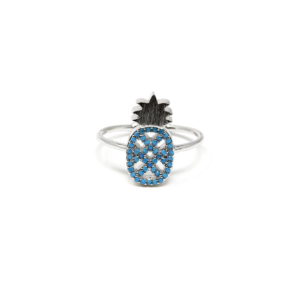 Pineapple Turq Ring