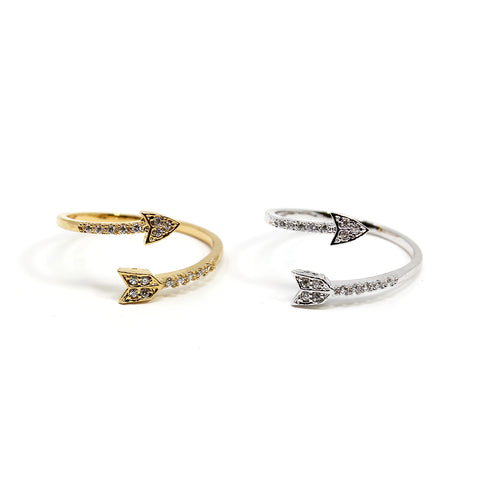 Studded Arrow Ring