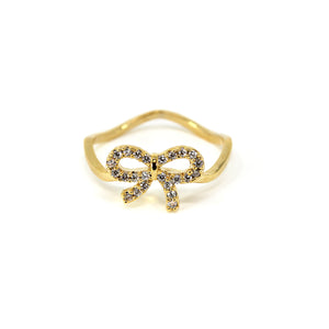 Studded Bow Ring