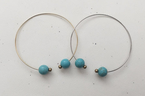 Double Turq Ball Bangle