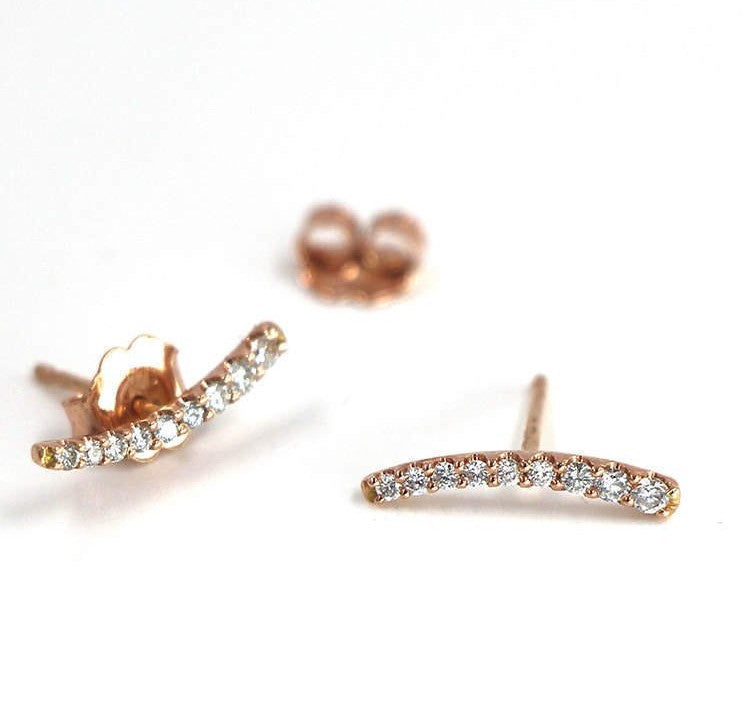 Diamond Climber Earring