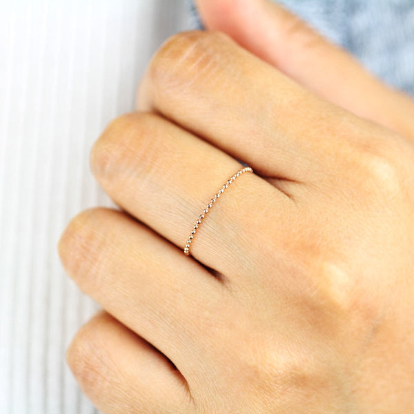Minimalist Ball Chain Ring