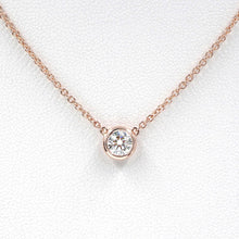 Load image into Gallery viewer, Diamond Solitaire Necklace