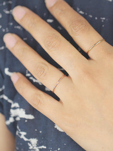 Minimalist 1mm Gold Band