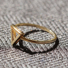 Load image into Gallery viewer, 14K Gold Triangle Ring