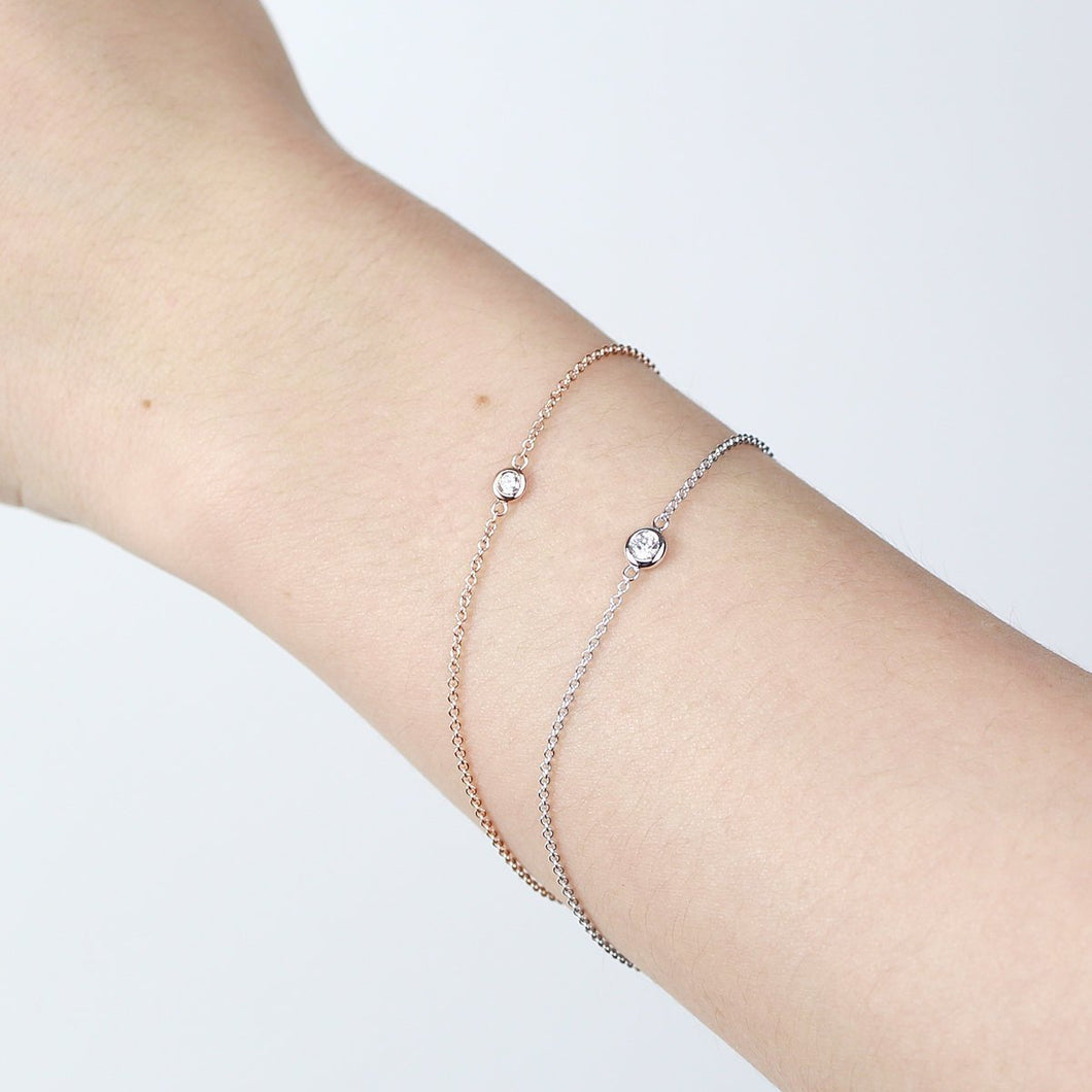 Diamond Solitaire Bracelet