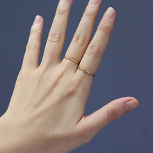 Load image into Gallery viewer, 14K Solid Gold Bead Infinity Ring