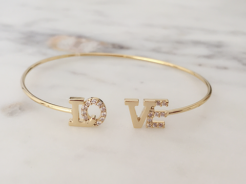 LOVE Crystal Bangle