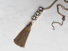 Load image into Gallery viewer, Gem Tassel Necklace