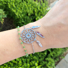 Load image into Gallery viewer, Silver Dreamcatcher Bracelet