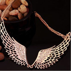 Rose Gold Angel Wings Collar Necklace
