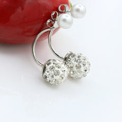 Women Crystal Pearl Earrings