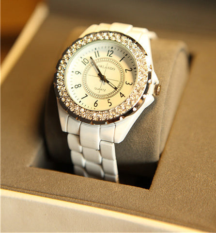 Luxury Rue Paris Watch with Crystals