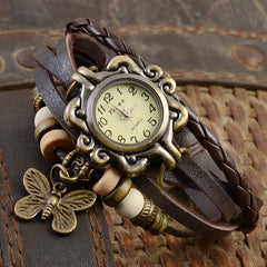 Ladies Vintage Style Leather Bohemian Watch