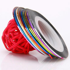 10 Pack of Nail Decoration Striping Tape