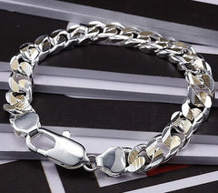 Men's 925 Sterling Silver Plated Bracelet