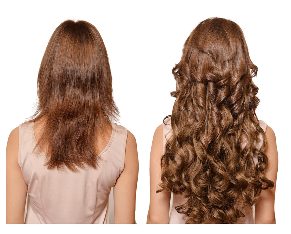 Wavy Curly Clip In Hair Extensions Full Head Set 7 Pieces Shop