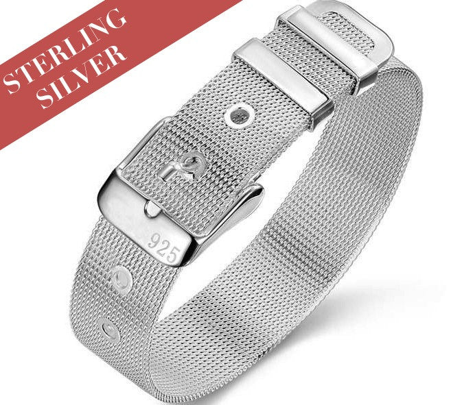 Sterling Silver Watchband Bracelet