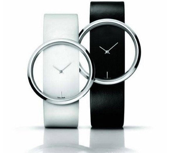 Contemporary Ladies Leather Watch