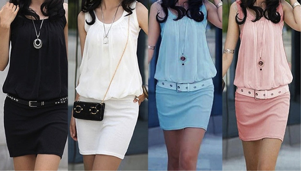 Ladies Chiffon Mini Dress