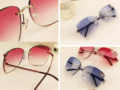 Luxury Rimless Sunglasses
