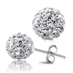 925 Sterling Silver Plated Bijoux Stud Earrings