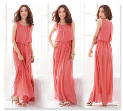Ladies Chiffon Maxi Dress