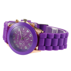 Geneva Ladies Silicone Wrist Watch