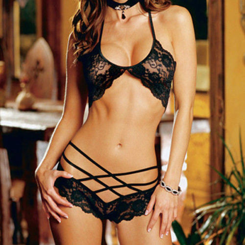 Modern Lace Sexy Lingerie Set with G-String