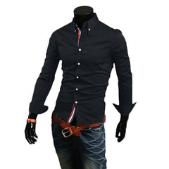 Men Long Sleeve Slim Fit Shirt