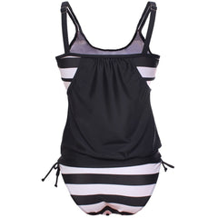 Avery Two-Layer Striped Tankini