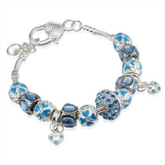 Charm Bracelet with 15 Crystals