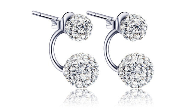 Balance Earrings with Swiss Crystals
