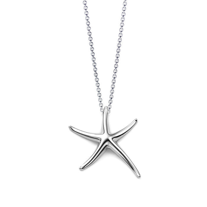 Sterling Silver Plated Edmon Starfish Necklace