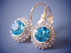 18k Gold Plated Crystal 'Kate Middleton' Stud Earrings